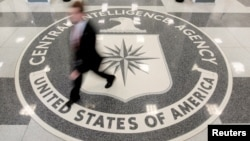 FILE - The lobby of the CIA Headquarters Building in Langley, Virginia.
