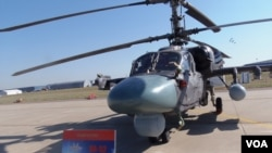 2015年莫斯科航展上展出的卡-52直升機。