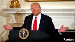 El presidente de EE.UU., Donald Trump, pronunciará su primer discurso ante ambas cámaras del Congreso el martes, 28 de febrero, de 2017.