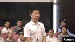 Trương Hiểu Quân, người quản gia trong gia đình ông Bạc Hy Lai cũng bị đưa ra tòa