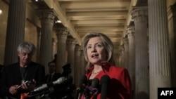 Государственный секретарь США Хиллари Клинтон. Вашингтон. 14 февраля 2011 года