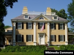 This colonial style home was originally built in 1759. Later owners added other design elements.