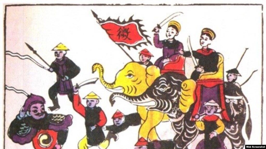 Hình minh họa (Tranh dân gian Đông Hồ - Ảnh chụp Báo Giáo dục)