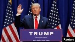 Nhà tài phiệt Donald Trump tham gia tranh cử tổng thống năm 2016.