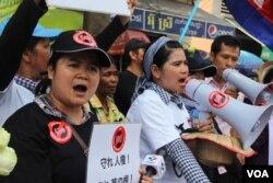 Hàng trăm người biểu tình tập họp bên ngoài thượng viện phản đối LANGO.