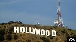 美国洛杉矶好莱坞地标(美国之音记者 国符拍摄)