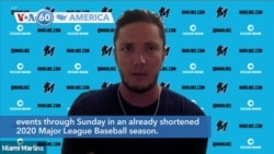 VOA60 America - Four more Miami Marlins reportedly tested positive Tuesday for the coronavirus