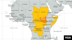 Map of Concentration of Child Soldiers in Central Africa