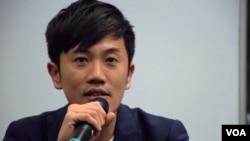 香港立法會議員鄭松泰 (美國之音湯惠芸拍攝)
