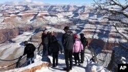Taman nasional Grand Canyon di negara bagian Arizona.
