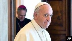 Le pape François , 17 juin 2017.