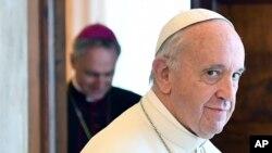 Le pape François, 17 juin 2017.