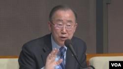 반기문 전 유엔 사무총장이26일 서울에서 열린 관훈토론회에서 연설하고 있다.