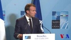 """Macron affirme que l'Otan """"sort beaucoup plus fort"""" de ce sommet (vidéo)"""