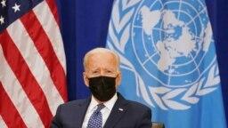 Američki predsjednik Joe Biden sastao se s generalnim sekretarom Ujedinjenih naroda Antoniom Guterresom na 76. sjednici Generalne skupštine UN-a u New Yorku, 20. septembra 2021. REUTERS/Kevin Lamarque