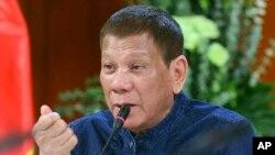 菲律賓總統杜特爾特。(資料圖片)