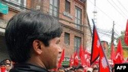 Phiến quân Maoist tụ tập ở Kathmandu, Nepal, 1/5/2010