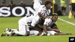 Des joueurs de TP Mazembe, le club de Lubumbashi