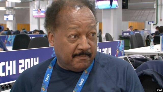 Charles Belle, Olympic Press Center, Olympic Village, Sochi, Russia, Feb. 16, 2014. (Parke Brewer/VOA)