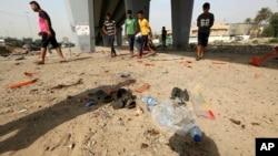 伊拉克巴格达自杀炸弹袭击现场