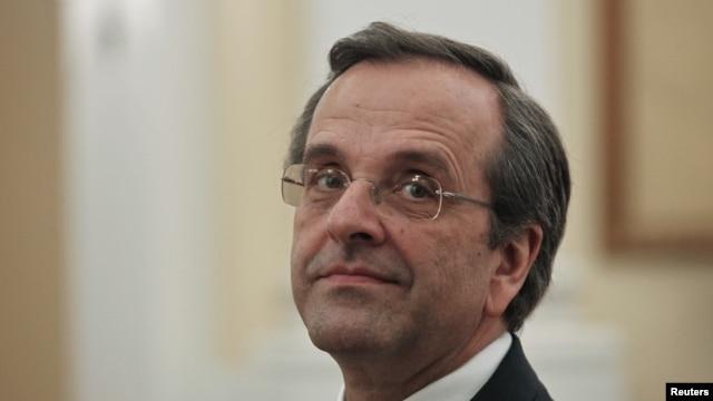 Ông Antonis Samaras trong lễ tuyên thệ nhậm chức Thủ Tướng Hy Lạp