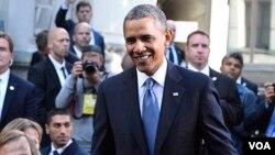 ABŞ prezidenti Barak Obama Stokholmda görüş keçirərkən