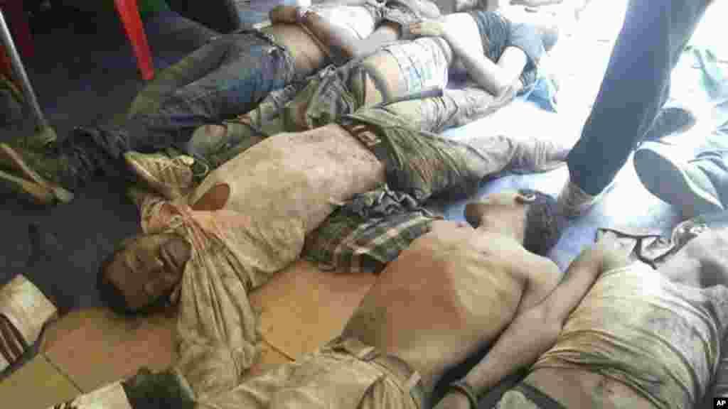 Les cadavres ont été disposés après le festival religieux laïcs à Bishoftu, en Ethiopie, le 2 octobre 2016.