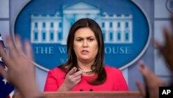 Пресс-секретарь Белого дома Сара Хараби Сандерс