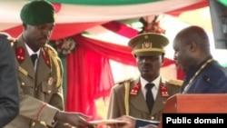 Lt. Nkurunziza Kelly ni umuhungu wa Nyakwigendera Pierre Nkurunziza yahoze arongoye Uburundi