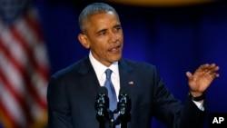 Obama no seu discurso de despedida