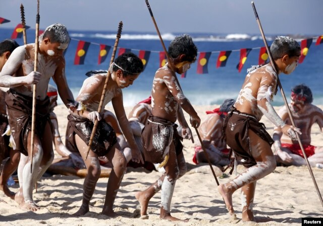 ... National Reconciliation Week on Sydney's Coogee Beach May 27, 2015