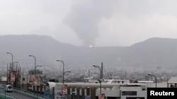 也門首都薩那冒起濃煙