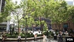 El bajo Manhattan es ahora conocido como el distrito pañal, por la cantidad de familias con bebés que viven en la zona.