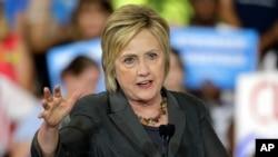 미국 민주당 대선주자인 힐러리 클린턴 전 국무장관. (자료사진)