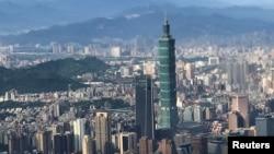 台北地標台北101大廈。