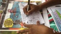 Dessin et caricature en Guinée (vidéo)