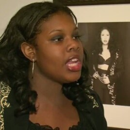 Student actress Rashawn Alexander portrays Latin music star Selena, who was murdered by a fan in 1995.
