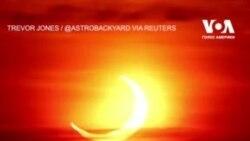 «Вогняне коло»: як виглядало сонячне затемнення 2021. Відео