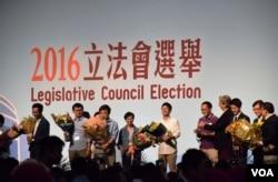 香港立法會選舉3名自決派候選人高票當選。(美國之音湯惠芸攝)