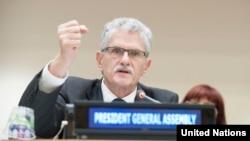 Presiden Majelis Umum PBB Mogens Lykketoft, yang menyatakan dukungannya untuk memilih sekretaris jenderal perempuan untuk PBB. (Foto: Dok)