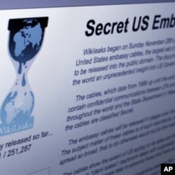 The Internet homepage of Wikileaks is shown in this photo taken in New York, Wednesday, Dec. 1, 2010.