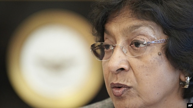 United Nations High Commissioner for Human Rights Navi Pillay (file photo)