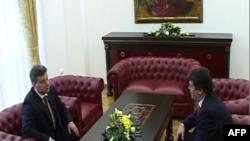 Presidenti Bamir Topi në Shkup