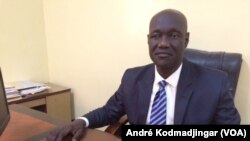 Guirayo Jérémie, président du SYNECS, à N'Djamena, le 10 février 2020. (VOA/André Kodmadjingar).