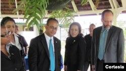 Entre los cancilleres que dialogaron con el funcionario, estaban los de países como Brasil, Trinidad y Tobago, Grenada y Guyana, entre otros. [Foto: OEA]