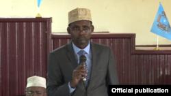 Guddoomiyaha Maxkamadda Sare ee Somalia Ibraahim Iidle
