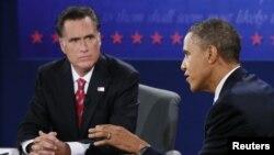奥巴马和罗姆尼的第三场也是最后一场总统候选人辩论正在进行