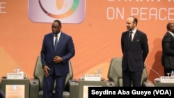 Macky Sall et Edouard Philippe, le 18 novembre 2019. (VOA/Seydina Aba Gueye)