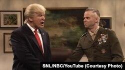 周六夜现场(SNL)节目上主持人揶揄川普