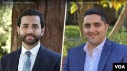 دانیال خالصی، ایرانی تبار ( راست) و حسان شحاوی مصری تبار (چپ) مدیران دو نشریه معتبر حقوقی استنفورد و هاروارد شدند